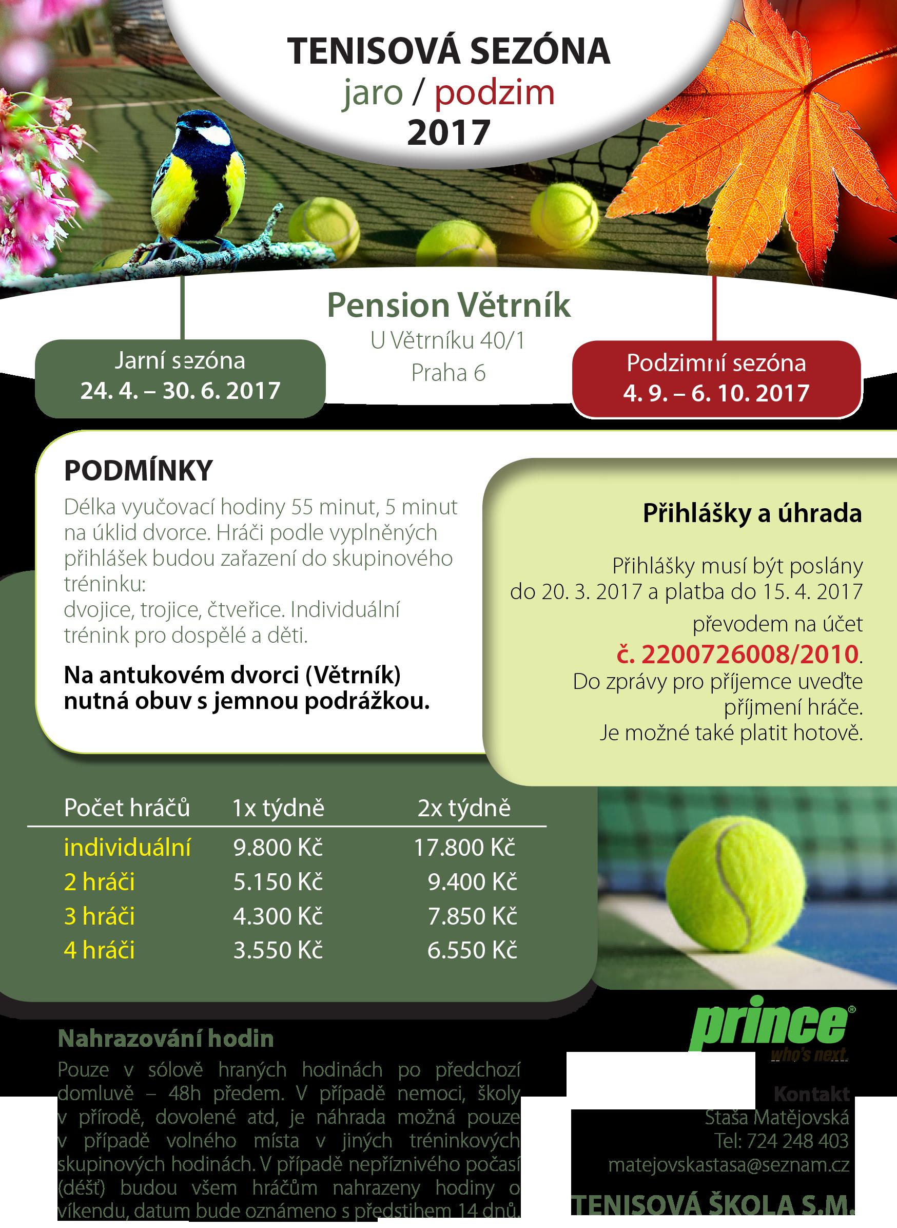 2017 jarní a podzimní tenis vetrnik