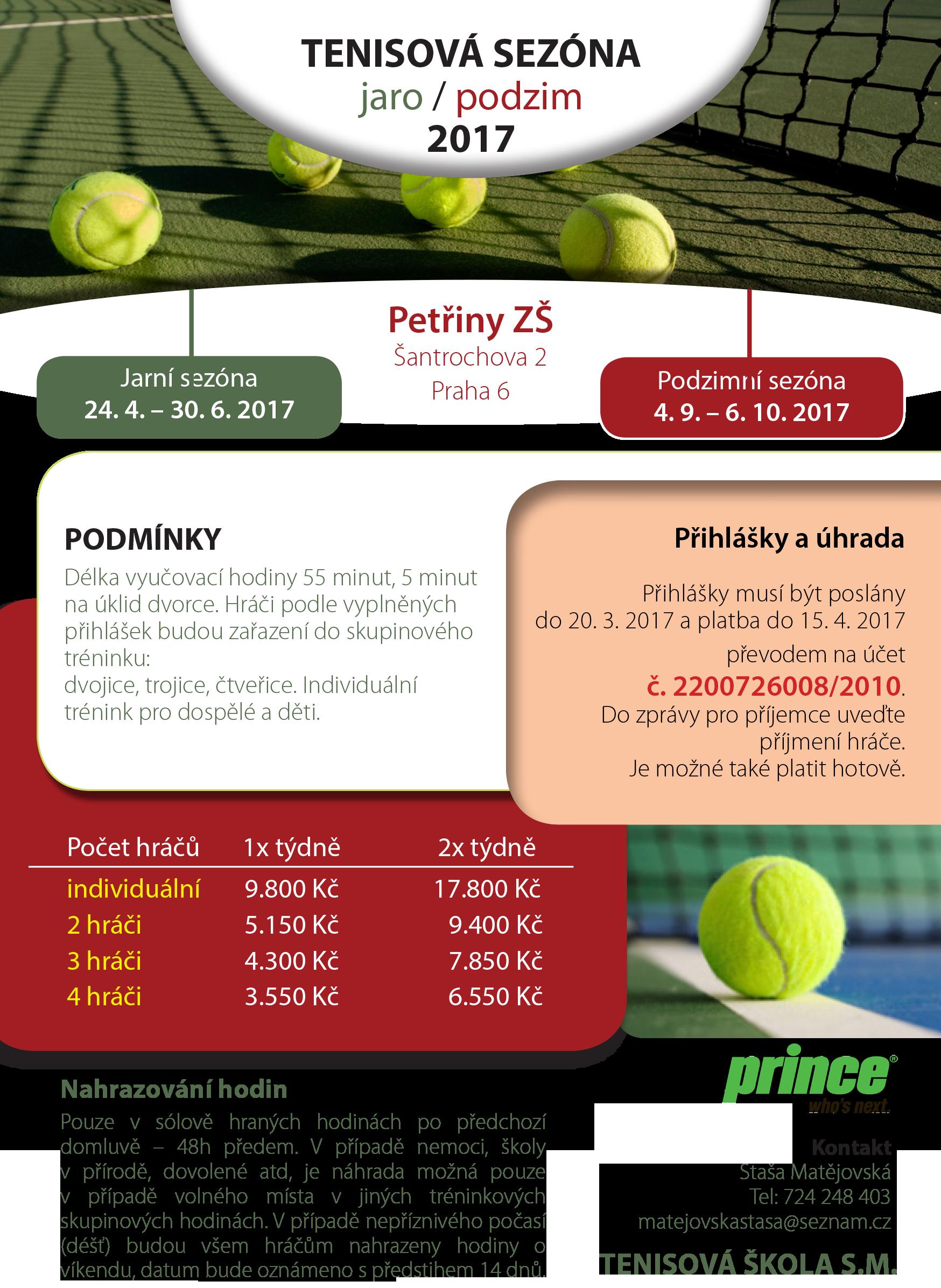 2017 jarní a podzimní tenis