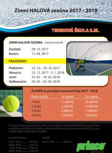 Tenisová škola S_Matějovská zimní halová sezóna 2018 HALA-1